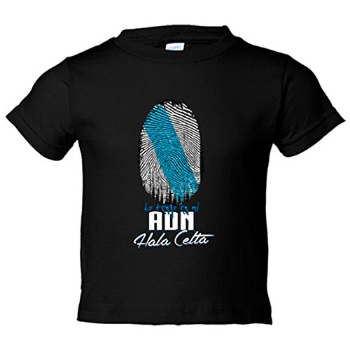 Camiseta niño lo tengo en mi ADN Celta fútbol - Negro, 3-4 años