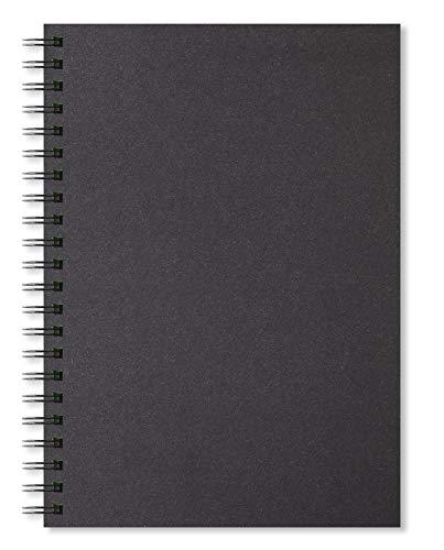 Artgecko Shady Skizzenbuch A4 Hochformat 80 Seiten (40 Blatt) 200gsm säurefrei Schwarz Karte