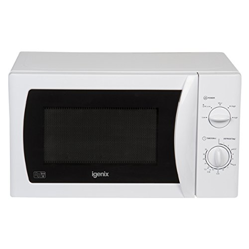Igenix IG2008 Solo Manual Microwave, 5 Power Levels and Defrost Function, 35 Minute Timer, 800 W, 20 Litre, White