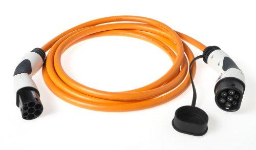 Typ 2 Schnell - Ladekabel (Mode 3) | 22kW 32A 3-phasig | mit Typ2 Ladestecker & Kupplung (Bals) | 5 Meter | z.B. für Zoe Tesla BMWi3