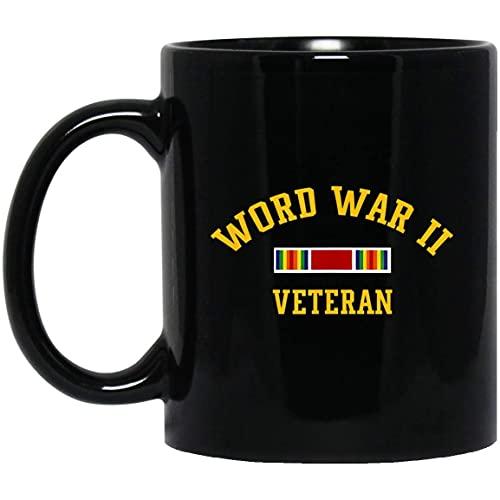 N\A Taza de Navidad del Día de los Veteranos Militares del Día de los Veteranos de la Segunda Guerra Mundial, 11 oz