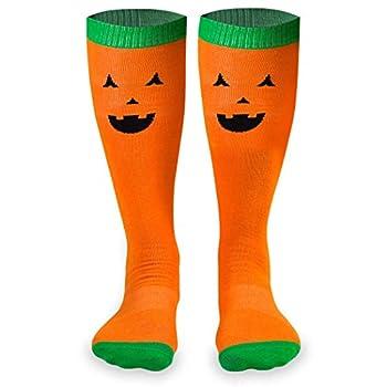 Jack-O-Lantern Halloween Knee High Half Cushioned Athletic Running Socks | Fun Running Socks by Gone For a Run One Size