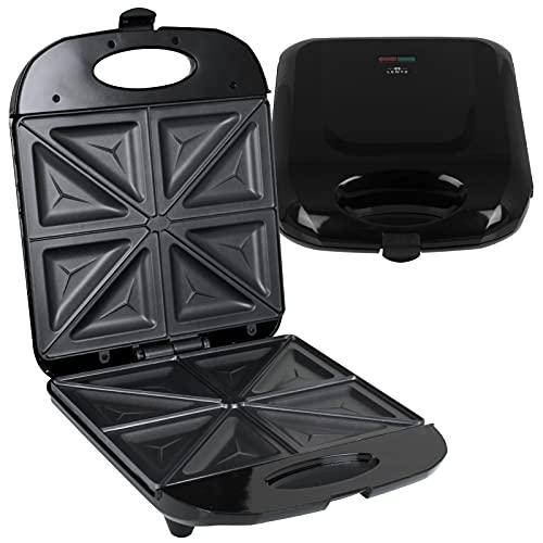 Sandwichmaker 4er 1400W schwarz Sandwichtoaster XXL Sandwich Toaster Maker Toast Grill Sandwichofentoaster