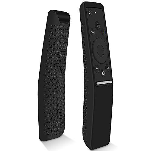 Custodia in Silicone Compatibile con Samsung Telecomando BN59-01259B BN59-01241A BN59-01242A BN59-01260A, Antiurto Anti-Scivolo Protettiva Cassa per Samsung Smart TV Remote Control Cover (Nero)