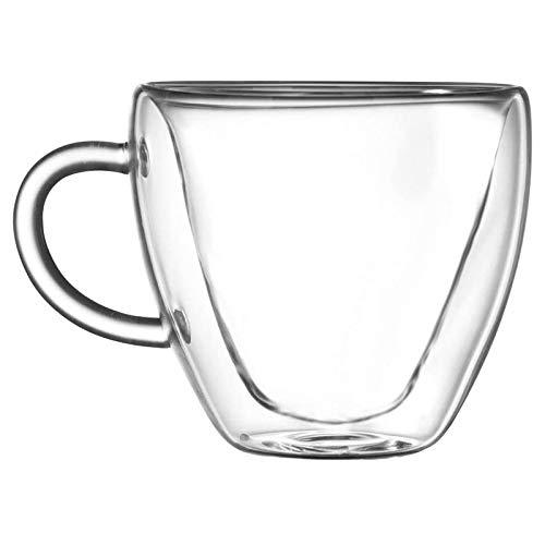 Milk Cup, Heart Love Shaped Double Walled Glass Mug Resistant Kung Fu Tea Cup Milk Lemon Juice Cup Drinkware Lovers Coffee Cups Mug Gift