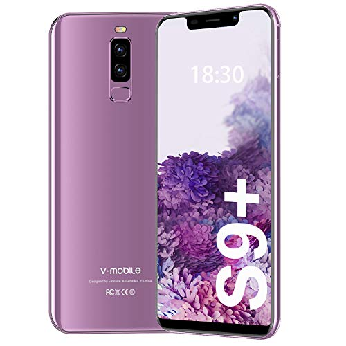 Moviles Libres Barats y Buenos 4G 5.84 Pulgadas S9 Plus(2020) Android 8.1 Telefono Movil Libre 3GB+16GB/128GB ROM Smartphone Libre Android 8.1 4300 mAh 13MP Moviles Libres Bueno GPS Face ID (Lavanda)