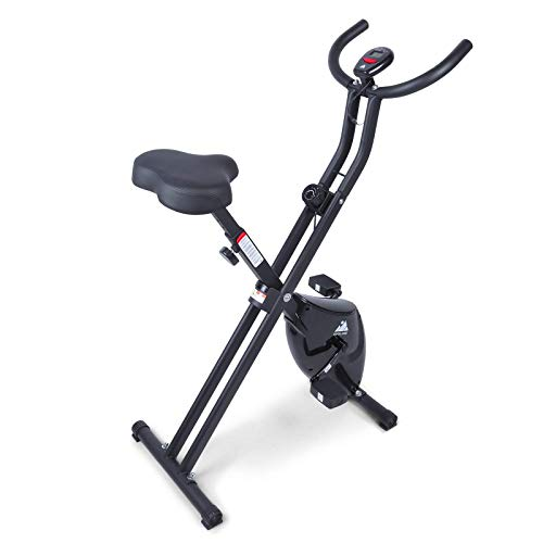 EVOLAND Exercise Bike with 8 Resistance Levels, LCD Display, Cardio-Training Indoor Bike for Adults, 265LBS Max Load