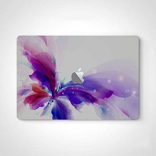 Decal Stickers Butterfly Blue Purple Cyan Blots Laptop Skin Sticker for Boys for MacBook Air 13' Pro 13'/15'/16' 2008-2020 Version Laptop Keyboard Decal Sticker