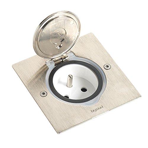 Legrand 089700 Caja IP44 Suelo y Mobiliario, 2 Módulos, Inox