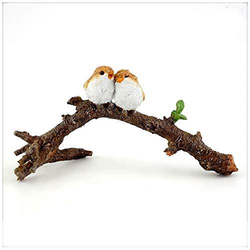 BRTTHYE Miniatuur hars paar vogels op tak beeldje huis decoratie kunst ambachten kantoor