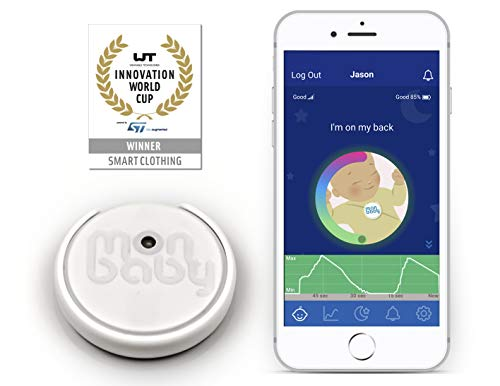 MonBaby(E) Baby Monitor with Breathing and Body Movement Rollover Sensors - Portable and Accurate. Easy Set-Up.