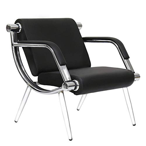 Black Waiting Room Chair PU Leather