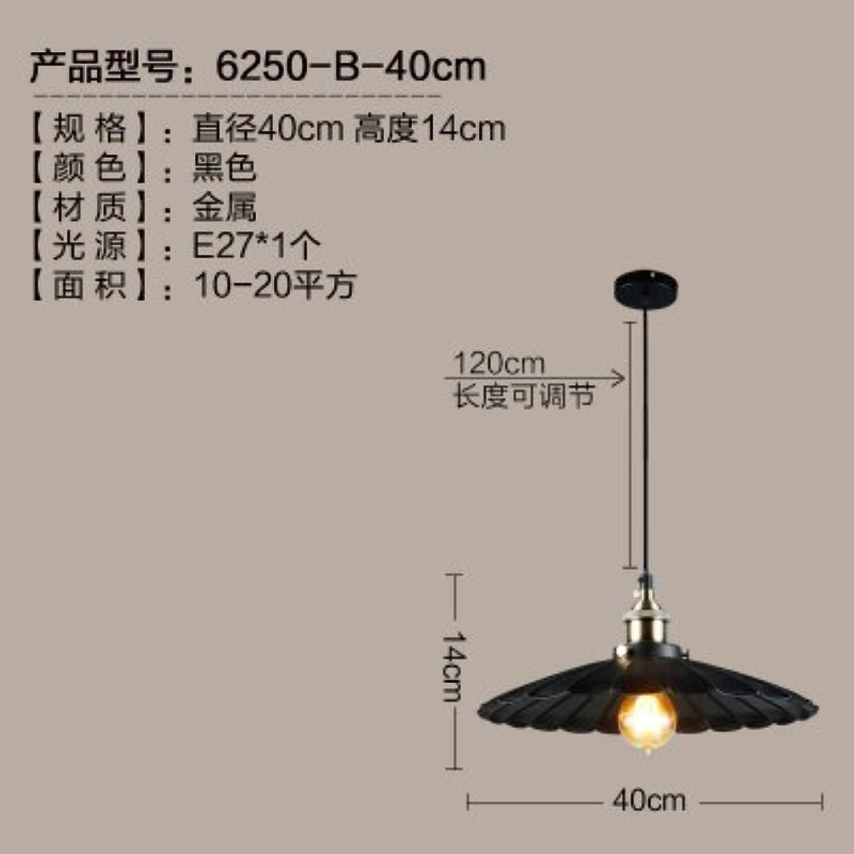 LuckyLibre Pendentif mode moderne de création d'éclairage Lampe Lustre Chambre Salon Cuisine,B noir 40 cm