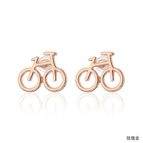 WANGLETA Ohrstecker Ohrhänger Geschenkidee für Frauen einfach schöne Fahrrad Ohr schraube Europa plating hypo-allergene Ohrringe Rose Gold