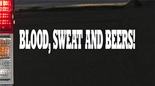Blanco sangre sudor y cerveza Gas rápido según Hot Rod Euro Monkey Van Pegatinas vinilo