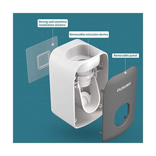 CNSL Dispensador de Pasta de Dientes, Soporte para Cepillo de Dientes eléctrico,