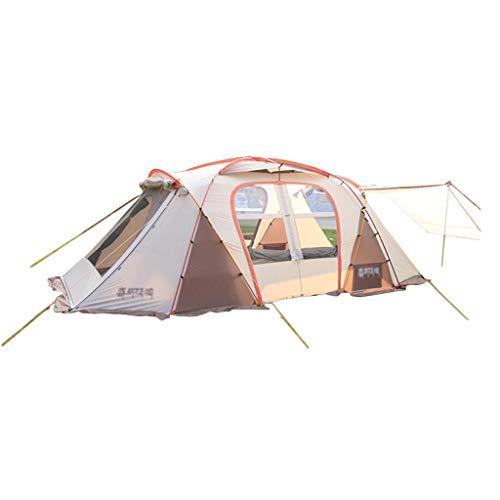 Tent chapiteaux Épaississement Tunnel Camping Camp Grande en Plein Air Étanche Imperméable À La Pluie 4-6-8 Personnes Famille (Color : Pink, Size : 590 * 305 * 205cm)