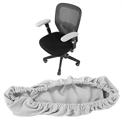 Armlehnenbezug für Bürostuhl, elastisch, dehnbar, bequem, Armlehnenschoner, abnehmbarer Stuhl-Armlehnenbezug für Zuhause, Büro und Bar grau