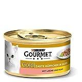 PURINA GOURMET Gold Zarte Häppchen in Sauce Katzenfutter nass, mit Lachs und Huhn, 12er Pack (12 x 85g)