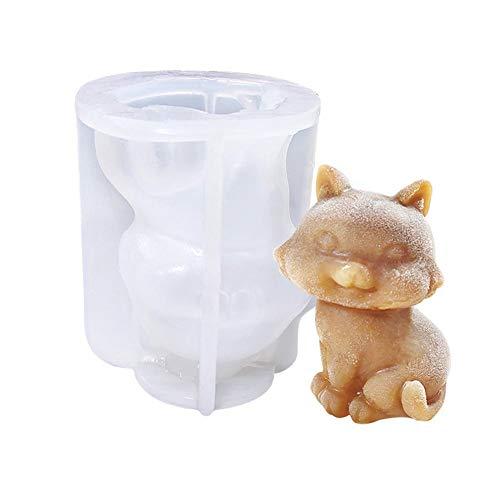 SmallPocket 3D Katze Teddy Hundeform Silikonform, Schokoladenpudding Fondant Mousse Kuchen Dekoration Backform DIY Seifenkerzenherstellung Werkzeug