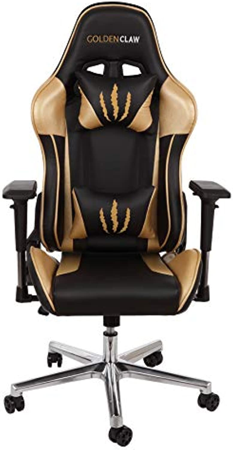 goldenClaw PC Gaming Chair - Ultra Racing Bucket Seat Office Chair Ergonomic Computer Chair Esports Desk Chair Executive Chair Velour Pillows