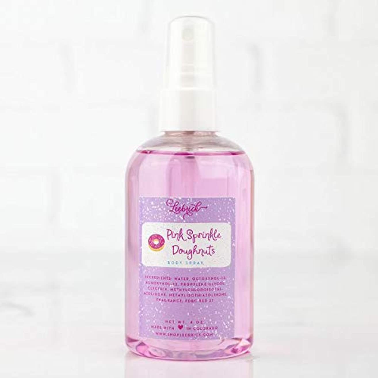 Pink Sprinkle Doughnuts Sweet Scented Body Spray Oil Gift for Her - 4 oz