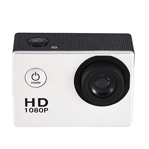 Mini DV Sports Camera, 1080P Full HD LCD Action Camera Impermeabile 30m Outdoor Sports Video DV Camera Mini videocamera con Accessori di Montaggio Kit(Argento)