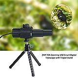 STHfficial Télescope Numérique Intelligent USB Monoculaire 2MP 70X Zoom Grossissement Caméra évolutive Réglable avec Trépied