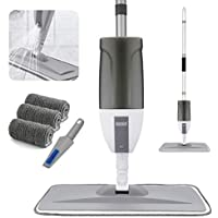 Asogo Floor Cleaning Mop with a Refillable Spray Bottle & Washable Pads