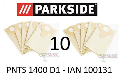 10 Parkside sacs pour aspirateur 20 L PNTS 1250//9 LIDL BK 40878 Marron 906-05