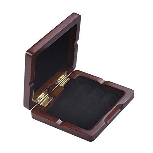 Holz Fagott Blattetui Maroon Hand Geschnitzte Bassoon Reed Box for 3pcs Reeds Universal Strapazierfähige