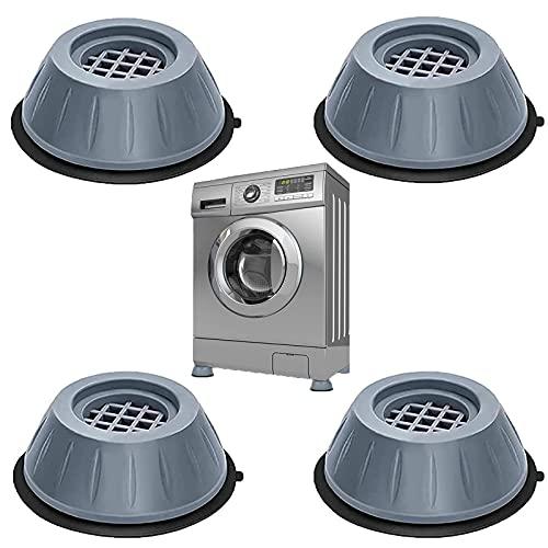 Tuofang Piedini per Rondelle Anti Vibrazione per Lavatrice, 4Pcs Piedini Antivibrazione Lavatrice Universali, Ammortizzatore Vibrazione per Lavatrice in Gomma, Antiscivolo e Antirumore (3.5cm)