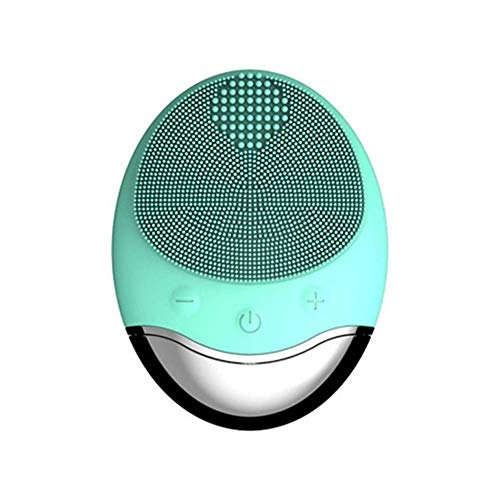 HYNL face Instrumento eléctrico portátil de silicona para la limpieza de la cara Vibrador de poros Limpiador facial Conjunto de cepillos Herramientas para el cuidado de la