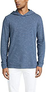 Vince Men's Long Sleeve Striped Slub Pullover Hoodie