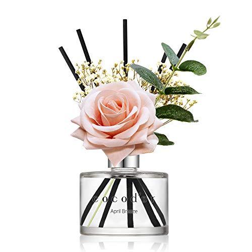 Cocodor Rose Flower Reed Diffuser/April Breeze/6.7oz(200ml)/1 Pack/Reed Diffuser, Reed Diffuser Set, Oil Diffuser & Reed Diffuser Sticks, Home Decor &...