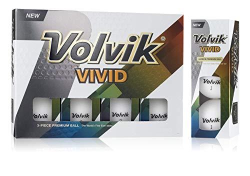Volvik Vivid Mat Colored Bolas de Golf, Unisex, Blanco, Talla Única