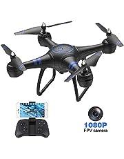AKASO dron z kamerą HD 1080p LED, A31 mini dron, WiFi FPV Live transmisja RC, Quadrocopter 3D VR 360°, bezgłowica, sterowanie za pomocą aplikacji dla początkujących, dzieci/dorosłych, czarny