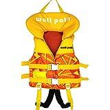 Chaleco de natación para niños - Chaleco de natación de flotación de natación para bebés con protección para la cabeza, Chaleco de natación de flotabilidad con hebilla ajustable (XS-11-15KG, Amarillo)
