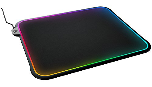 SteelSeries QcK Prism RGB Mousepad, Dual-Surface, 12-Zone Lighting with...
