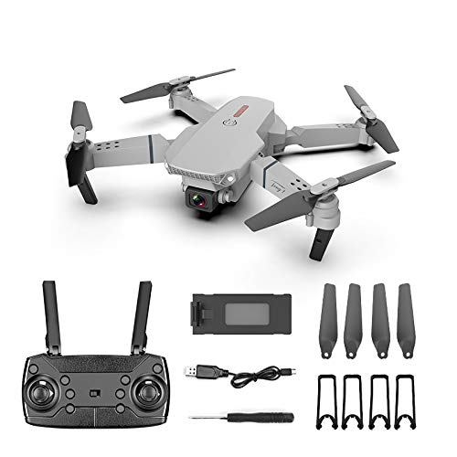 E88 Pro HD 4k Foldable Drone,720P Dual Cameras FPV Live Video 110°Wide Angle Quadcopter with Gravity Sensor, Gesture Voice Control,Altitude Hold