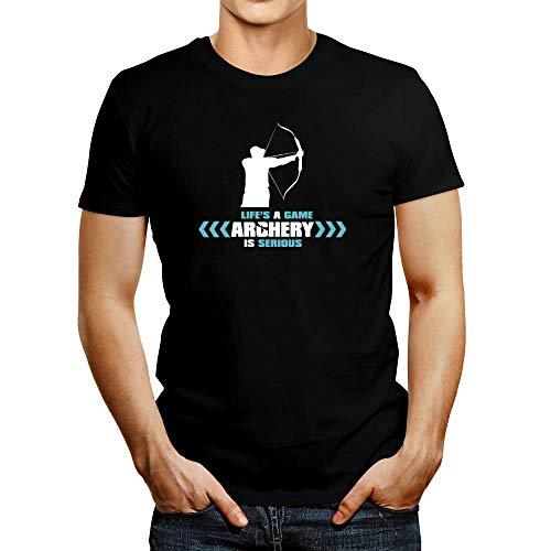 Idakoos Life's a Game, Tiro con arco es serio Camiseta - negro - Medium