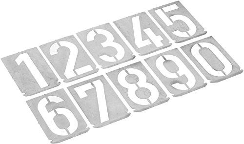 Gravurem 7001000Z Signierschablonen Zahlensatz in Schrifthöhe 100mm