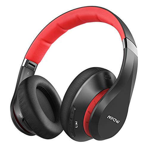 Mpow 059 Plus Cascos con Cancelación de Ruido, Auriculares Diadema Bluetooth 5.0 Plegable con CVC 8.0, 50 Horas de Reproducir y Carga Rápida, Auriculares con Micrófono para Móvil, PC, TV