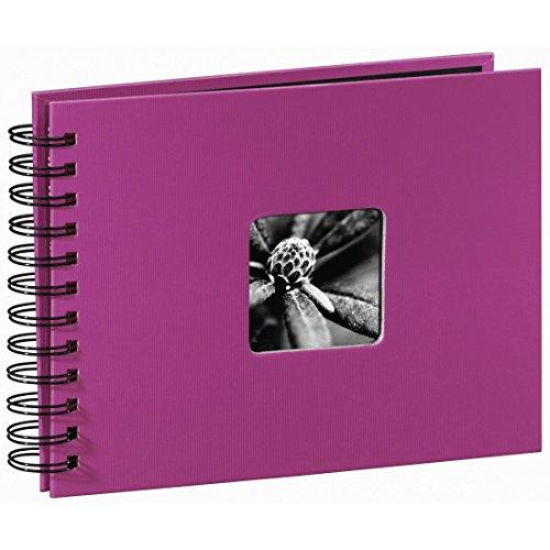 Hama Fine Art Fotos (50 páginas Negras, álbum con Espiral, 24 x 17 cm, Compartimento para Insertar Foto), Rosa