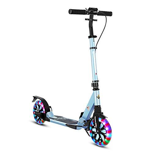 YF-Mirror Kick Scooter: Ruedas Grandes de 20 mm, Scooter Urbano de Aluminio para la Calle, diseño Premium, Manillar Plegable y Ajustable, Ligero, Capacidad de 220 Libras