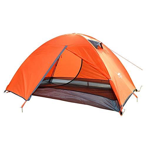 Tienda de campaña 2 Hombres Piel Doble Festival de música de Verano Senderismo Camping Tienda de cúpula al Aire Libre (Color : A)