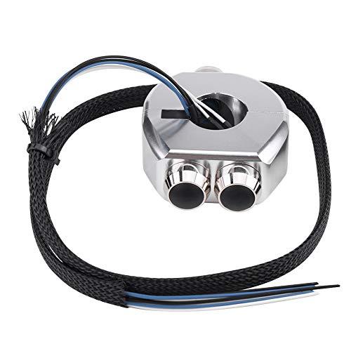 ROSEBEAR Interruptor de Manillar de Motocicleta 12V 10A Interruptor de Enganche Momentáneo Impermeable para Control de Faros Y Toma de Corriente