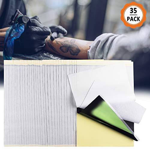 Tatoeage-transferpapier, 35 vellen 4-laags tattoo-transferpapier, A4 Tattoo Transfer Machine-papier Geschikt voor aangepaste tattoo-ontwerpen