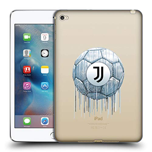 Official Juventus Football Club Logo Drip Art Soft Gel Case Compatible for Apple iPad mini 4