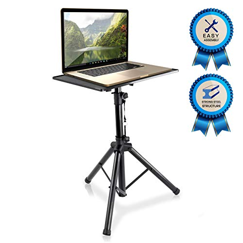 "Pyle-Pro Pro 28""-46"" Universal Device Projector, Height Adjustable Laptop, Computer DJ Equipment Stand Mount Holder, Good For Stage or Studio-Pyle PLPTS4, 28'' To 46'"